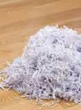 Pile of shredded documents on the floor Stock Photo