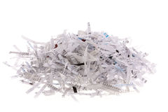 Pile of shredded paper Stock Images