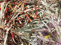 Pile of shredded paper Stock Photos