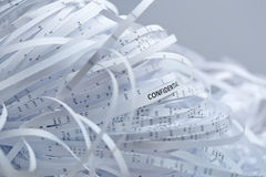 Pile of shredded paper - confidential Stock Photography