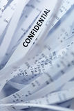 Pile of shredded paper - confidentiality Stock Images