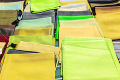 Pile of silk scarf Royalty Free Stock Images