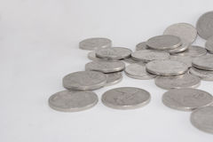 Pile of Silver Australian Twenty Cent Currency Coins Stock Photography