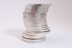 Pile of silver coins Stock Photography