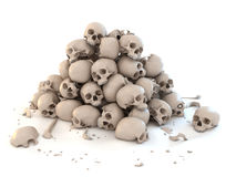 Pile of skulls vector illustration