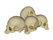 Pile of skulls - 3D render Stock Photo