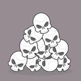 Pile of skulls Stock Photography