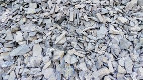 Pile of Slate. A textured pile of slate lying on the canyon floor Stock Images