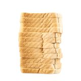 Pile of the sliced bread toasts Royalty Free Stock Photos