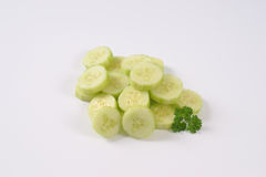 Pile of sliced cucumber Royalty Free Stock Images