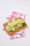 Pile of sliced cucumber Stock Photography
