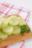 Pile of sliced cucumber Stock Photos