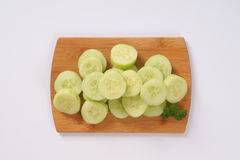 Pile of sliced cucumber Royalty Free Stock Photo