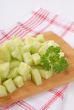 Pile of sliced cucumber Royalty Free Stock Image