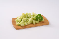 Pile of sliced cucumber Royalty Free Stock Photography