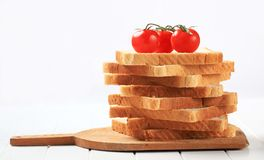 Pile of sliced sandwich bread Royalty Free Stock Image