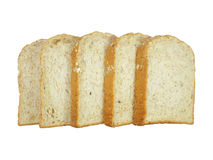 Pile of Sliced Whole Grains Bread Isolated On White Royalty Free Stock Photo