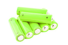 Pile of small batteries Royalty Free Stock Photography