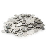 Pile of small coins Stock Images