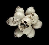 Pile of small Halloween skulls Stock Photos