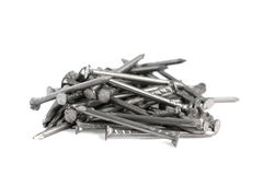 Pile of small nails Royalty Free Stock Images