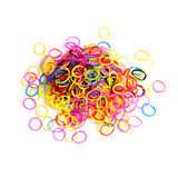 Pile of small round colorful rubber bands Royalty Free Stock Photos