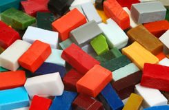 Pile of smalt tiles of different colors Stock Photo