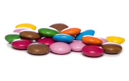 Pile of smarties cutout Stock Photography