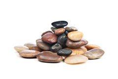 Pile of smooth stones Stock Photo