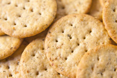 Pile of snack crackers Stock Photography