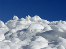 Pile of Snow. With blue sky, winter scenery royalty free stock photos