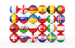 Pile of soccer balls Royalty Free Stock Images