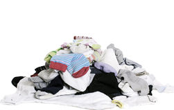Pile of Socks. A pile of unsorted socks, isolated against a white background Royalty Free Stock Images