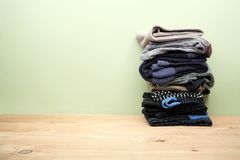 Pile of Socks. On Table Top royalty free stock photography