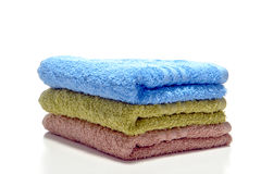 Pile of Soft Cotton Bath Towels Royalty Free Stock Image