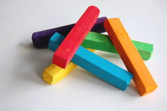 Pile of Soft Pastel Sticks stock images