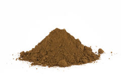 Pile of soil. Isolated on white royalty free stock photos
