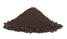 Pile of soil. On white background Royalty Free Stock Photos