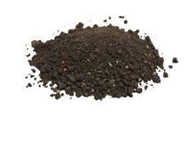 Pile of soil isolated on white Royalty Free Stock Image