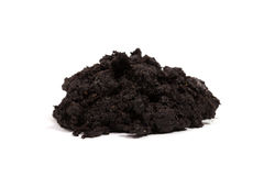 Pile of soil isolated on white Stock Photos