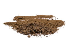 Pile soil isolated on white Royalty Free Stock Image