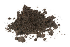 Pile of Soil Isolated on White Background Royalty Free Stock Images
