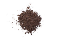Pile of soil isolated on white background Stock Photos