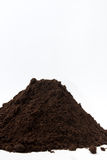 Pile of soil on the left side of the image Royalty Free Stock Image