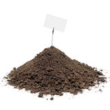 Pile of soil with message Stock Image