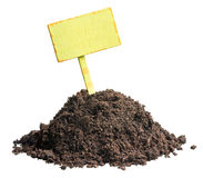 Pile of soil, profitable proposition Royalty Free Stock Image