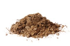 Pile of soil on white background Stock Images