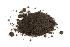 Pile of Soil on White Background Stock Photos