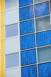 Pile solaire moderne à une façade Photographie stock