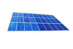 Pile solaire sur le fond blanc Images libres de droits
